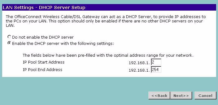 38 CHAPTER 4: RUNNING THE SETUP WIZARD 6 IP settings must be used when establishing a PPTP connection.