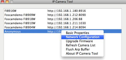2) Change the default http no.80 to another one like 88, or 85 etc. How to assign a different HTTP Port No. and fixed the LAN IP of the camera by the IP Camera Tool?