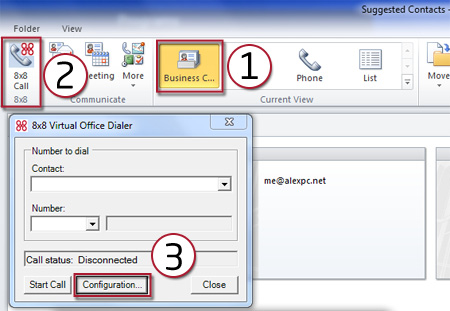 For Outlook 2010, first, click on
