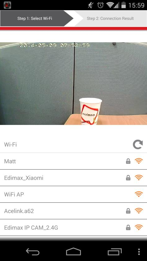 3. Select your Wi-Fi network from the list and then enter your Wi-Fi