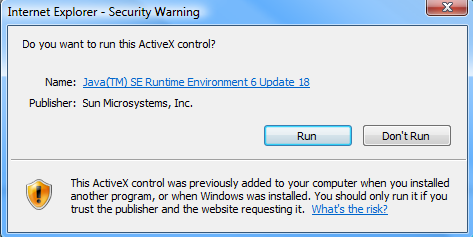 If any other security warnings/prompts appear, please