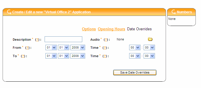 Out of Hours Set Up The Out Of Hours box on the right hand side gives you four options for what happens outside of your working day Route To A Number: If you have a contact number or on call number