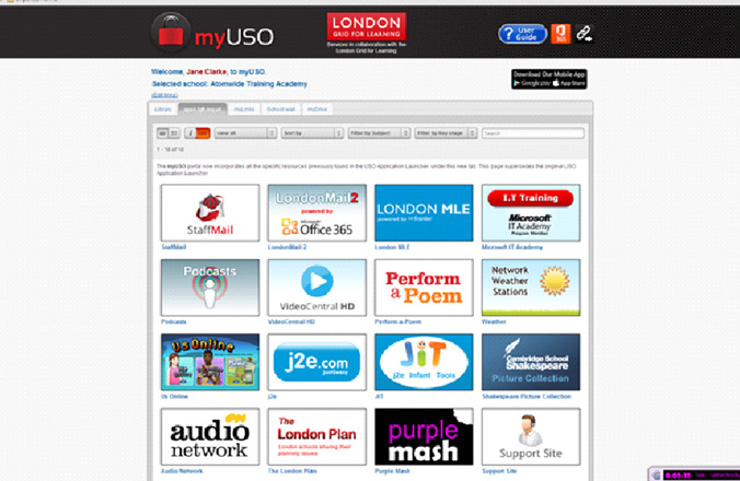 Teaching & Learning Resources INCLUDED IN THE TRUSTnet PACKAGE myuso Personalised application launcher The myuso website is a secure, personalised application launcher and cloud storage service