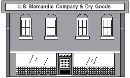 Figure 5.1 Typical two-story commercial building with load bearing, masonry side walls. mon for the interior wall to be stone and then faced with brick on the exterior side.