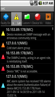 IMC Mobile Application IMC mobile application Monitor and see the status of your network from your mobile phone Query