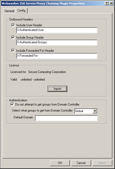 Config options Follow these steps to configure the Config options: 1. Select the Config tab.