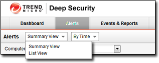 Events, Alerts, and Reports In Summary View, expanding an Alert panel (by clicking Show Details) displays all the computers (and/or Users) that have generated that particular Alert.
