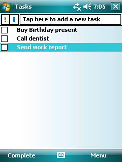4.3 Tasks: Keeping a To Do List Use Tasks to keep track of what you have to do.