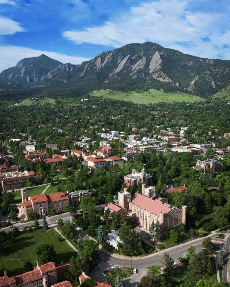 University of Colorado-Boulder: Fast Facts Located in Boulder, Colorado Ranked in the Top 100 for National Universities (U.S.