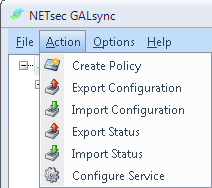 Uninstall GALsync In the Menu Action -> Configure Service within GALsync you can remove the Schedule Service.