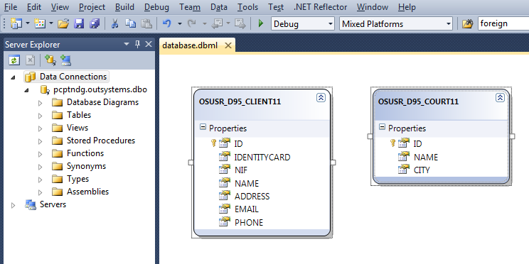 3. RELATED WORK 3.6. Technologies Figure 3.11: Adding a queryable entity to the database data source context Figure 3.12: Querying a database with Linq Linq.
