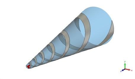 10 Conical Log Spiral, I-Solver Simulation times: 21 min 24 min 44 sec www.cst.