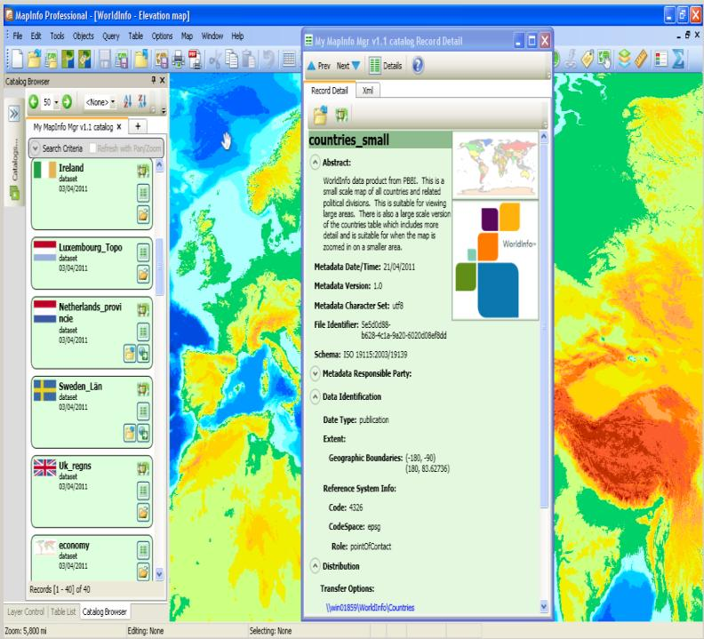 MapInfo Manager MapInfo Manager V 1.