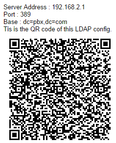 Figure 77: LDAP Client Information and QR Code Firmware