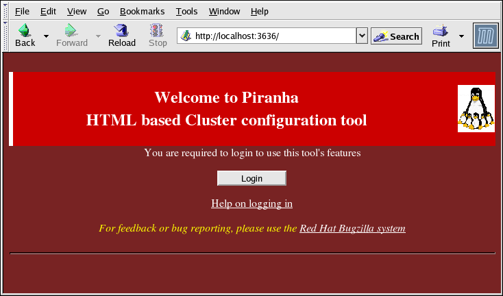 Chapter 4. Configuring the LVS Routers with Piranha Configuration Tool Figure 4.1.