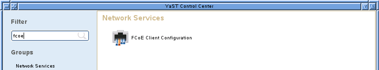 14.3 Managing FCoE Services with YaST You can use the YaST2 FCoE Client Configuration option to create, configure, and remove FCoE interfaces for the FCoE disks in your Fibre Channel storage
