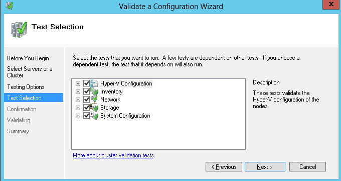 Step 4 On the Before You Begin page of Validate a Configuration Wizard, click Next button; Step 5 On the Select Servers or a Cluster page of Validate a Configuration Wizard, input server name, then