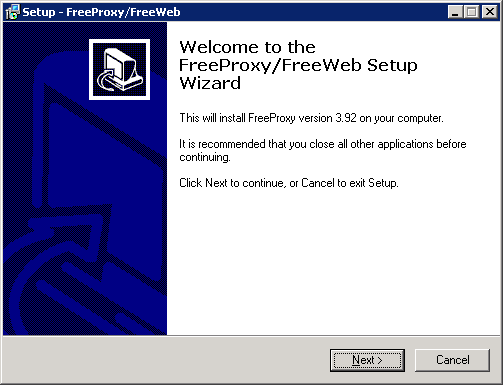 g. Enter the new password twice 3. Install FreeProxy a. Connect to your virtual machine through a RDP-Session (see point 2) b.