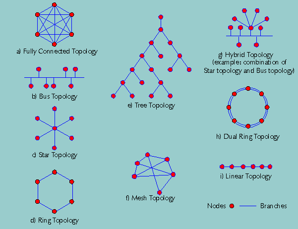 Figure 3.1: Common Network Topologies [3]. 3.3.1 High-performance Computing The fastest computers in the world are ranked in the TOP500 project.