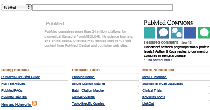Pubmed: Introduction Pubmed offers almost everything you need with exception of full-text search A well organized help page including links to Youtube and other tutorials Access to the large panel of