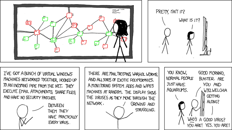 4 Dynamic Analysis of Malware s Network Communications Figure 4.1: Extract of the webcomic xkcd, http://xkcd.
