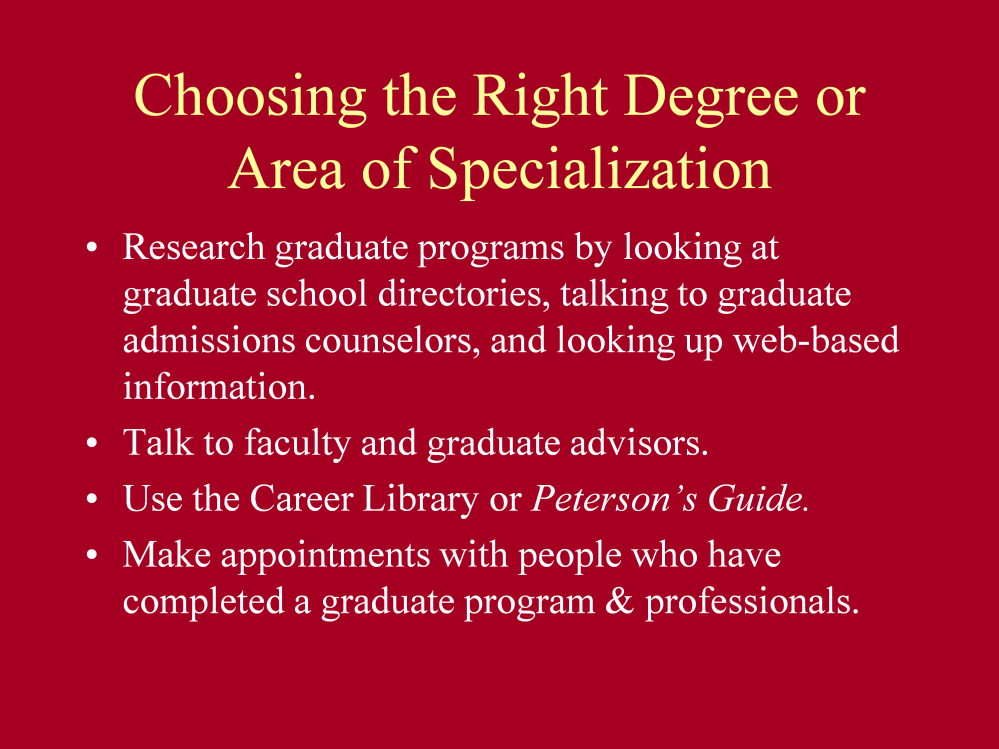 Many students make their first effort at admissions to graduate school by contacting an admissions counselor/advisor in the program or department you are interested in.