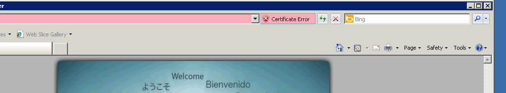 Certificate Warnings