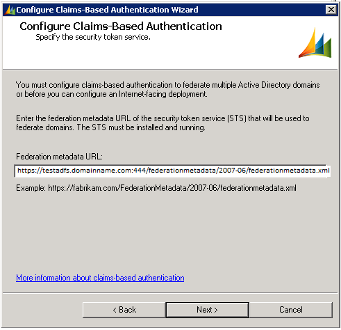 Configure Claims Wizard From the CRM deployment manager we can start to configure Claims based Auth: Make sure to test this URL in your browser for no certification errors.