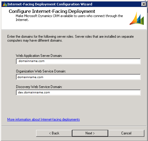 Configure Internet Facing Deployment IFD Inside deployment manager, you will click configure IFD: Enter ending of domain name Web Application and Org