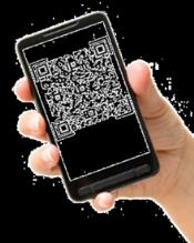 QR Codes Overview QR Code (Quick Response Code) Two dimensional barcode- invented by Denso Wave (Japan) Information encoded in vertical and horizontal direction Can hold up