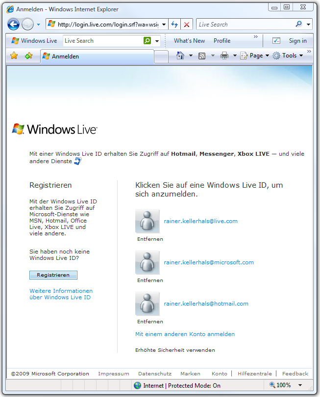 descriptions provide an overview of the Windows Live services and how they might complement an online video service.