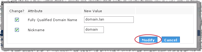 1. Select the Users link in the Administration area on the left side of the page. 2. Click the Domains link at the bottom of the list of users.