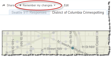 Save Your Custom View As you filter, sort, and interact with a view, a gray dot appears next to the Remember my changes menu
