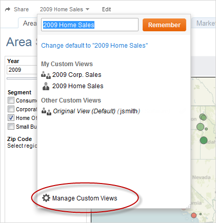 Delete a Custom View At any time you can delete a custom view. Removing your custom view does not affect the original view. 1.