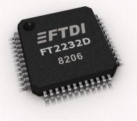 Future Technology Devices International Ltd FT2232D Dual USB to Serial UART/FIFO IC The FT2232D is a dual USB to serial UART or FIFO interface with the following advanced features: Single chip USB to