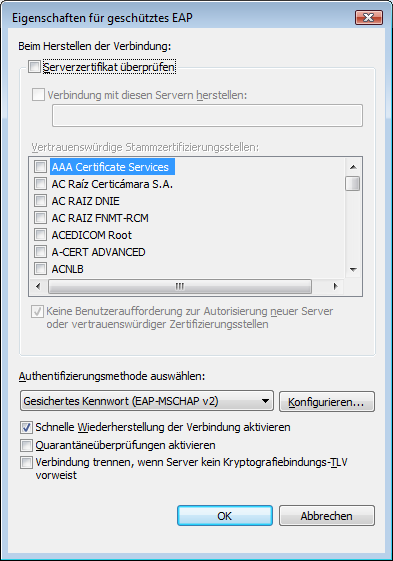 . Deactivate the option Automatisch eigenen Windows-Anmeldenamen und [Automatically use my