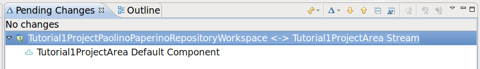 Repository Workspaces The repository workspace appears in the Pending
