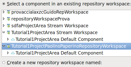 Add a project to the repo WS In the (local) Workspace tab create a new java project New... > java project Right-click the project > Team > Share Project.