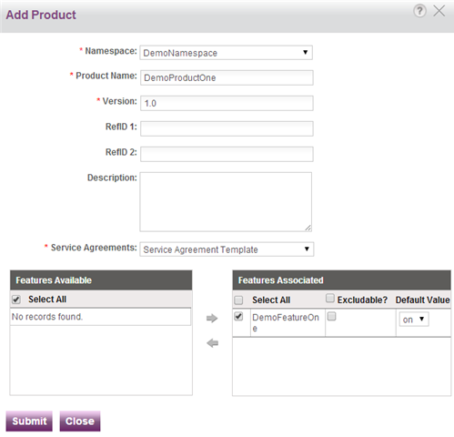12 Sentinel Cloud Quick Start Guide Step 4: Create Product 1. Click Catalog > Products, and then click New on page that appears. The Add Product pop-up appears. 2.