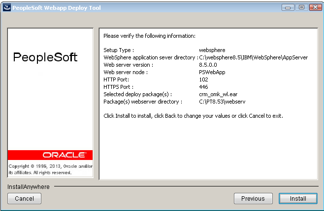 Chapter 3 Installing PeopleSoft Online Marketing 9.2 13. On the DES HTTP/HTTPS port selection page, enter the DES HTTP and HTTPS port numbers and click Next.