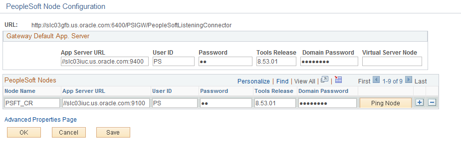 Installing PeopleSoft CRM 9.2 Applications Chapter 1 6. Click the Gateway Setup Properties link to access the Gateway Properties.