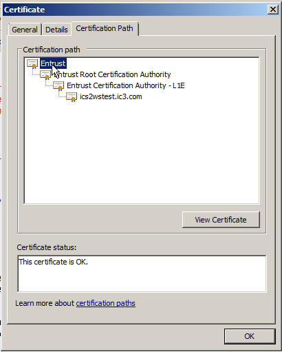 Installing PeopleSoft CRM 9.2 Applications Chapter 1 Example: Entrust.cer 8. Click Next. 9. Click Finish. Note. You will use this name when copying the certificate to your keystore.