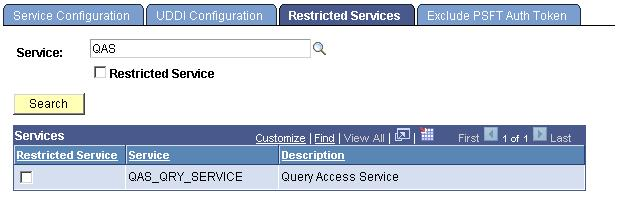 Integrating PeopleSoft CRM and PeopleSoft HCM Using Query Access Service Chapter 14 1. Select PeopleTools, Integration Broker, Configuration, Service Configuration.