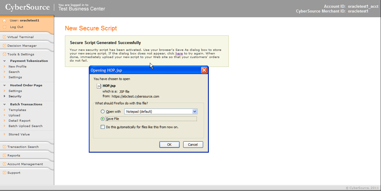 Chapter 1 Installing PeopleSoft CRM 9.2 Applications 2. Save the HOP.jsp File.