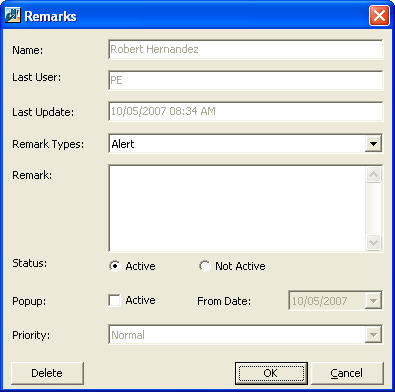 CLIENT RELATIONSHIP MANAGEMENT (CRM) 145 2. From the open client record, select the Donations tab. In the grid, mark the checkbox in the row of the transaction to which to add a remark. 3.