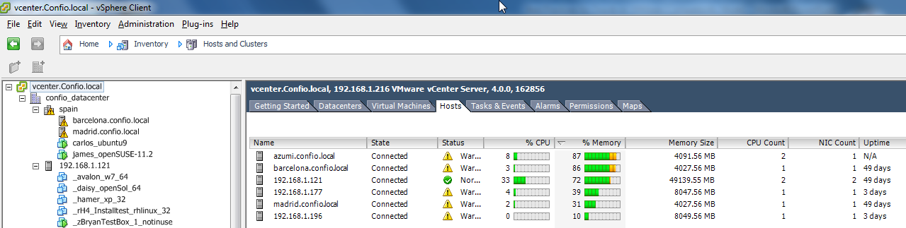 Monitoring - vsphere Get access to vsphere client Need a user account http://<machine>