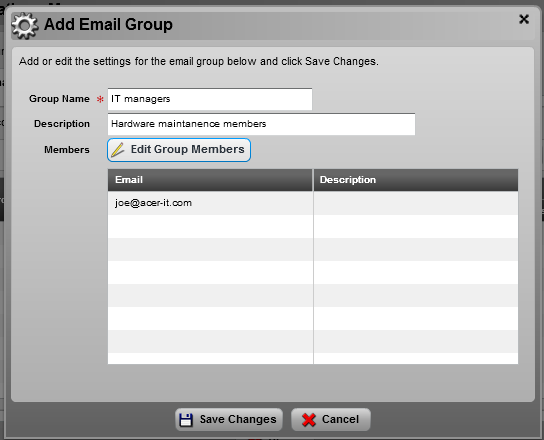 To enable email group management, the user must first click on SSM Options tab located on the upper right-hand side of the menu.