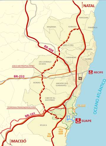INFRASTRUCTURE LOOP ROAD IN EXPANSION: 04 federal highways duplicate with completion in 2013 (BR 101, 232, 408 and 104) 03 state highways doubled in 2012 (Express Way, PE-60 extension) SUPPLY OF