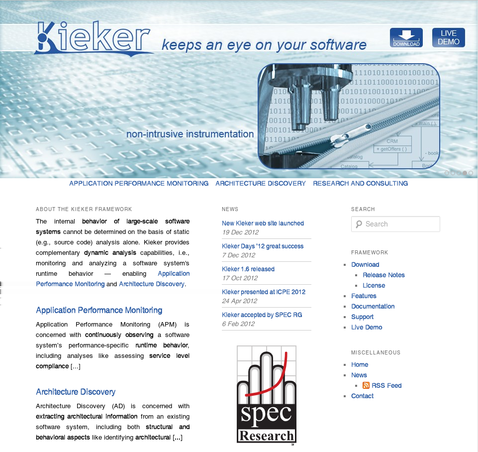Summary Summary and Outlook Kieker is... a framework for application monitoring and analysis, employed in various industry use cases, flexible and extensible. Kieker supports.