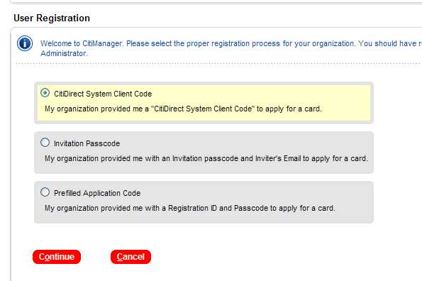 Card Applications Procedures Online Applications DoD uses the CitiDirect